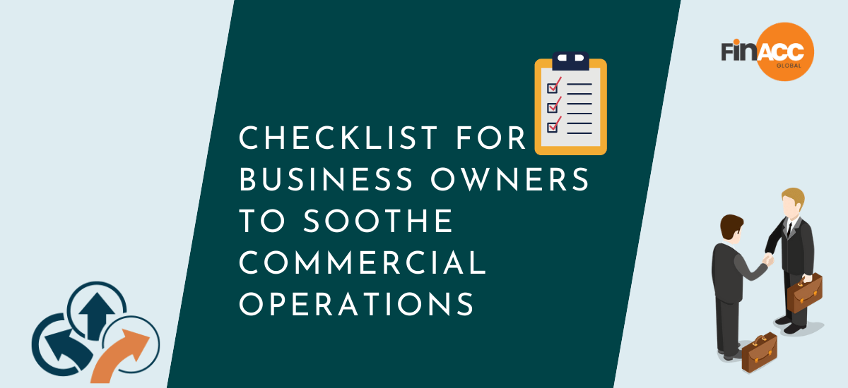 Checklist for business owners to soothe commercial operations
